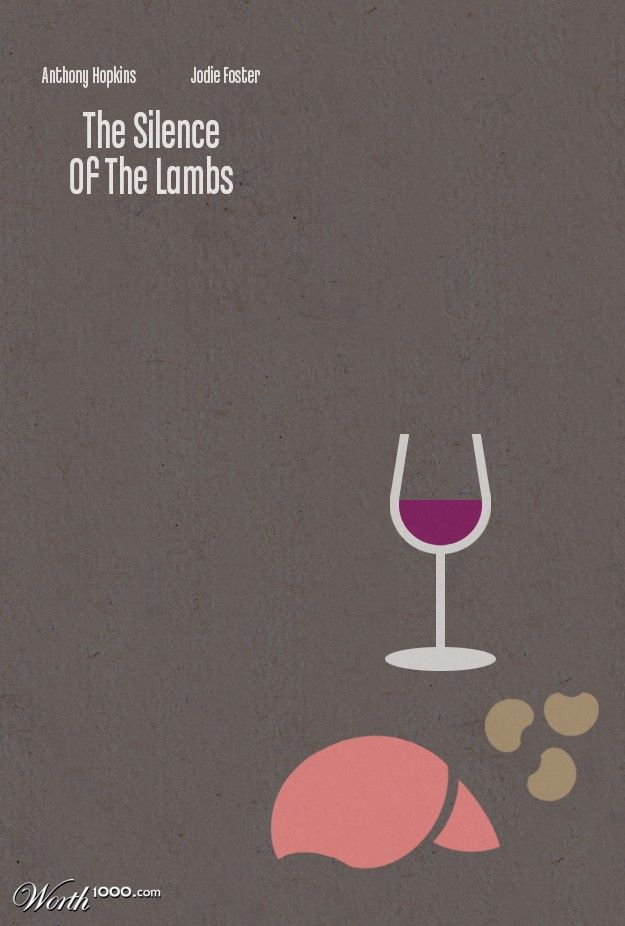 The Silence of the Lambs (1991) minimalist movie poster