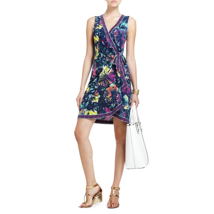 BCBGMAXAZRIA - SUMMER ESSENTIALS: SAFIYA SLEEVELESS WRAP DRESS $148Wrap Dresses, Sleeveless Wraps, Dresses 89, Azria Wraps, Bcbg Maxazria, Dresses 148, Dresses 8880, Wraps Dresses, Bcbg Wraps