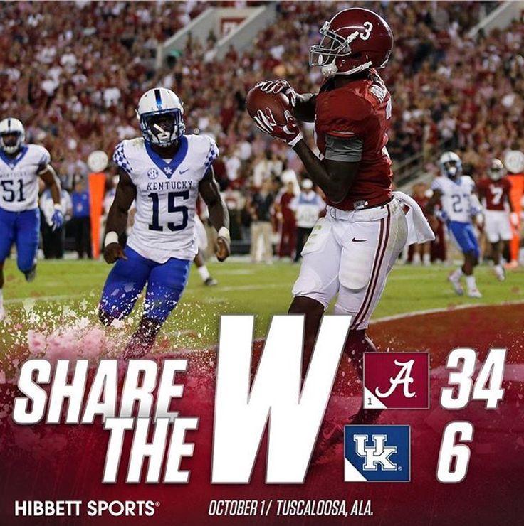 Alabama 34 Kentucky 6 week 5 October 1 2016