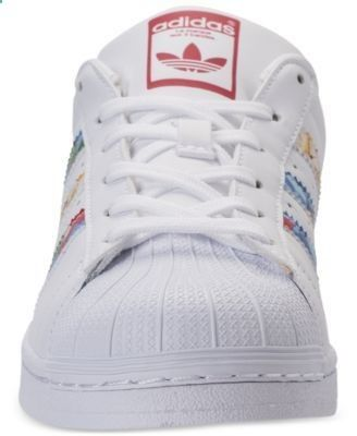adidas Womens Superstar Casual Sneakers from Finish Line - White 8