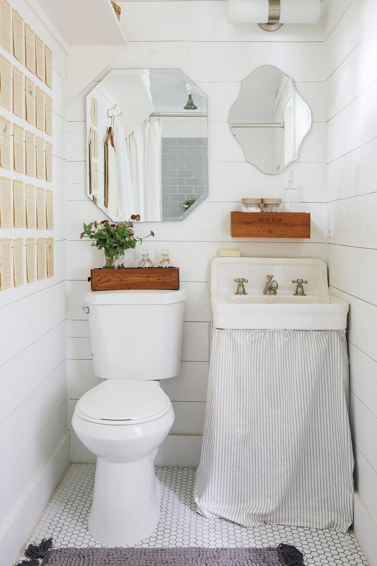 A Backyard Shed Becomes A Mini Dream Home Sink Skirtvintage