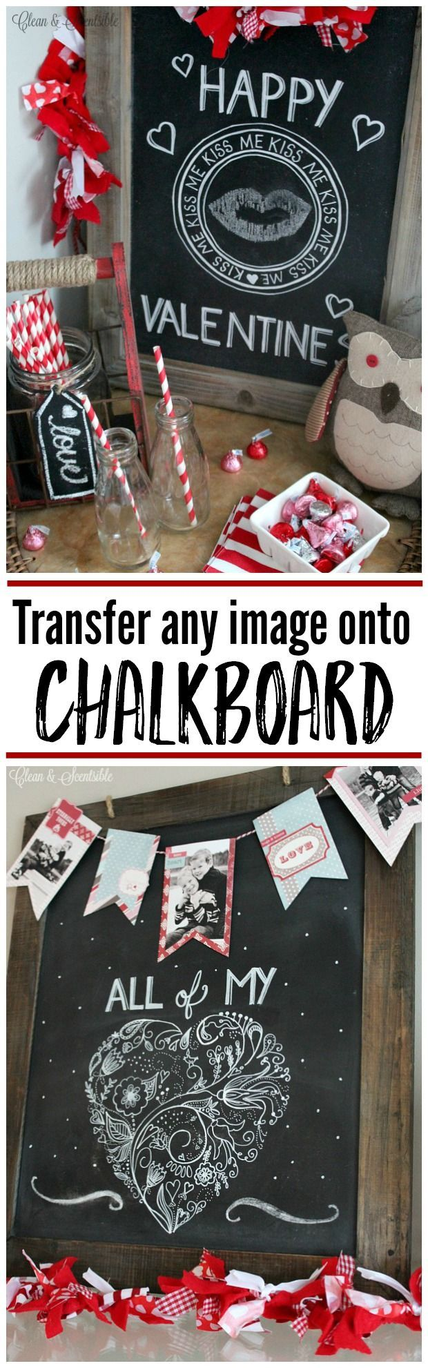 Get professional looking chalkboards with this easy tutorial on how to transfer any image onto chalkboard.