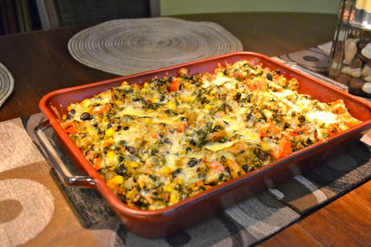 mexian chicken quinoa casserole