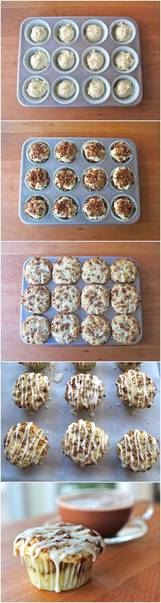 Coffee Cake Cupcakes - for tea party or book club / womens bible study