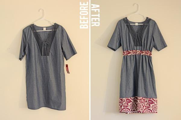 DIY Clothes Refashion:DIY frumpy dumpy three dollar dress