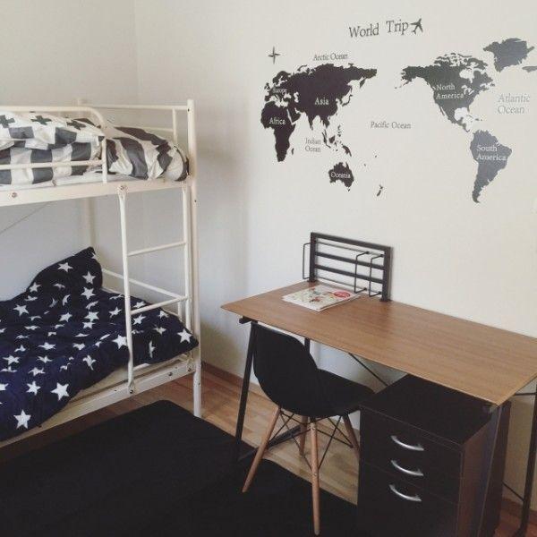 Wall Paper 小さな空間を有効活用☆子供部屋の2段ベット配置例13選 - Yahoo! BEAUTY