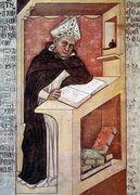 Saint Albert the Great 1352  by Tommaso Da Modena