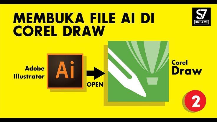 Cara membuka file AI di corel draw #2