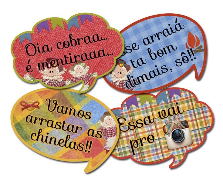 Plaquinhas divertidas para Festa JUNINAS e JULINAS. <br>Pura diversão na sua festa, aniversário com tema junino, são joão... <br>Podemos personalizar com nome, idade ou frases. <br>- tamanho: A4 <br>- material: PVC 0,50mm