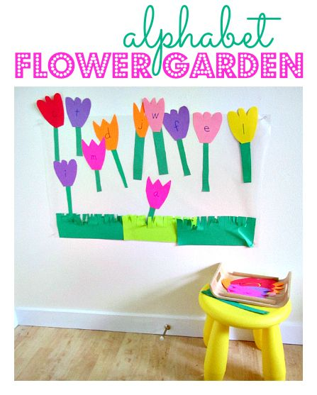 Create an alphabet flower garden for a fun way to teach your students about letters and colors!