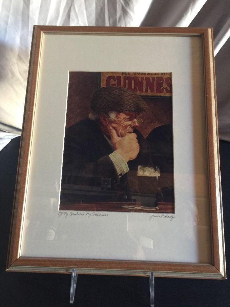 "🍺James Malady's ""My Guinness, My Goodness"" Vintage Signed Printers Proof. Bar  | eBay"