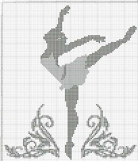 Ballerina x-stitch