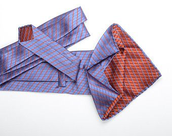 Sunrise in Algiers - SILK SEVEN-FOLD TIE SOLD OUT - AVAILABLE AS BOWTIE ONLY.