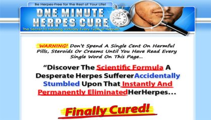 http://www.coldsoresonlips.info/one-minute-herpes-cure-review.html 1 Minute Herpes Cure discussion. The One Minute Herpes Cure Review