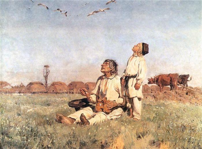 Bociany - Józef Chełmoński (1900)