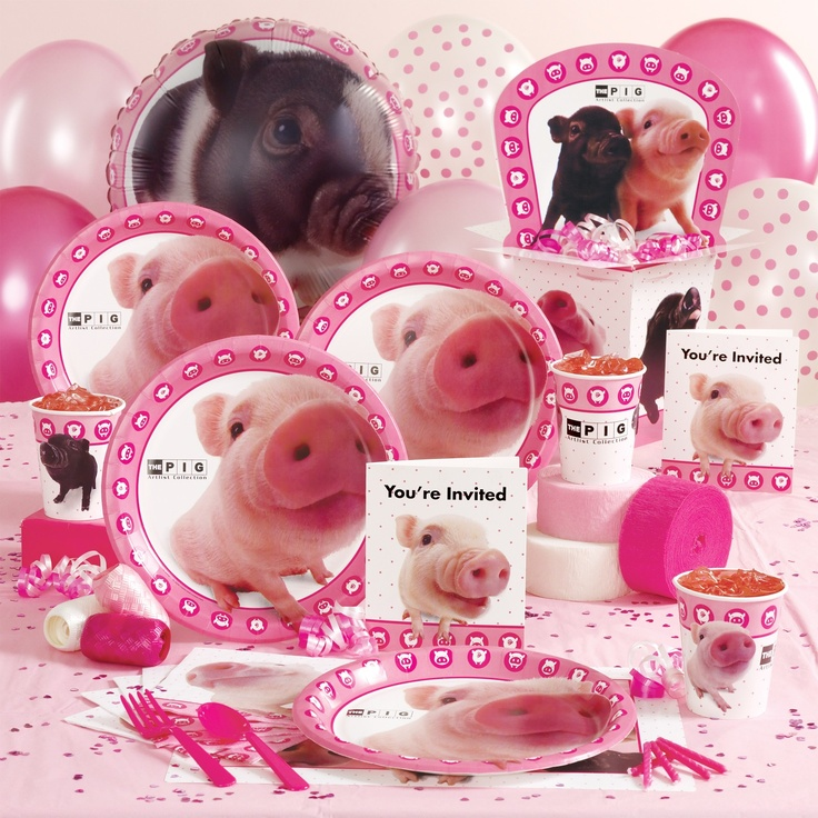 PIG Party supplies!