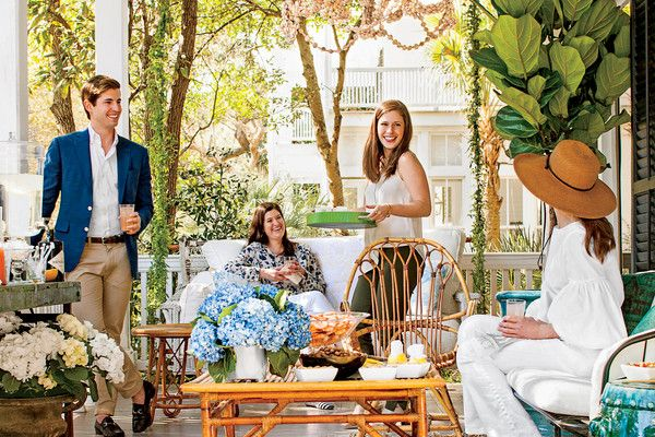 5 Tricks for Pulling Together a Last-Minute Porch Party- Southernliving. Take it to the porch for a no-fuss spring get-together that you can pull together in 2 hours or less.  Don't worry about vacuuming or having those throw pillows just right, this season we're all about the easy, breezy porch party. We're ditching our usual pre-party antics (wherein we frighten innocent husbands and children as we run through the house in a crazed stupor haphazardly flinging the Swiffer Wet Jet into every…