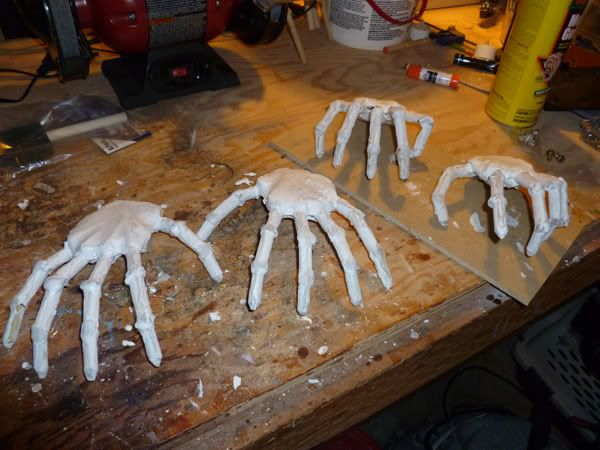 cheap and easy skeleton hands page 2 these could make some awesome and creepy candle - Cheap Halloween Props