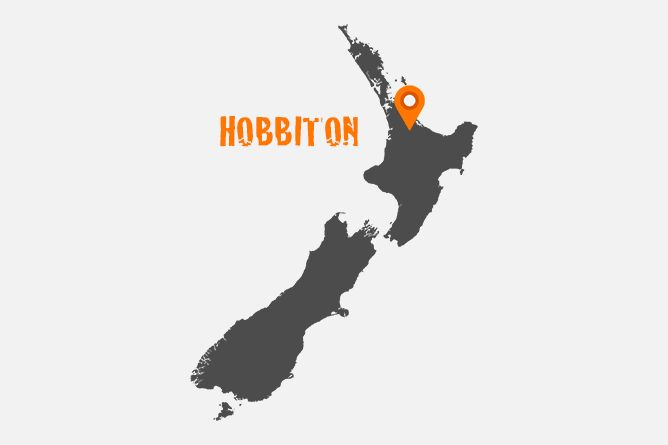 """Map Of Hobbiton Movie Set Location, New Zealand Immerse yourself in """"Middle-Earth"""" by taking a relaxing tour of """"Hobbiton"""" the movie set where """"Lord Of The Rings"""" and """"The Hobbit"""" trilogy were filmed."""