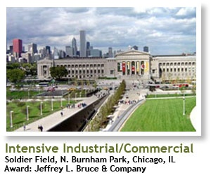 2004 Winner, Intensive Industrial/ Commercial: Soldier Field, N. Burnham Park, Chicago, IL, Recipient: Jeffery L. Bruce & Company | #architecture #ecotecture #green #design #eco #sustainable #sustainability #gardening #garden #livingwall #greenroof #agriculture