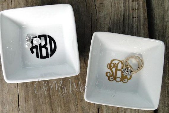 Monogram Ring Dish on Etsy, $10.00 Great christmas gifts!