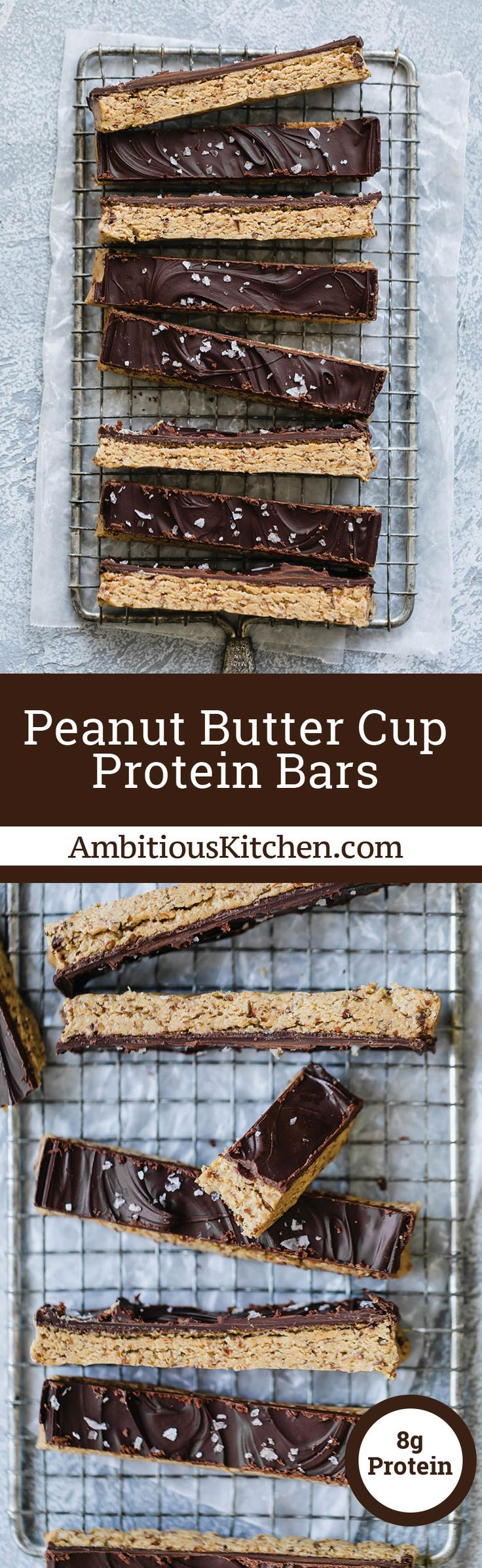 No bake Peanut Butter Cup Protein Bars that taste just like a Reese's. This protein bar recipe will be your new favorites snack to keep in your fridge and enjoy all week long.