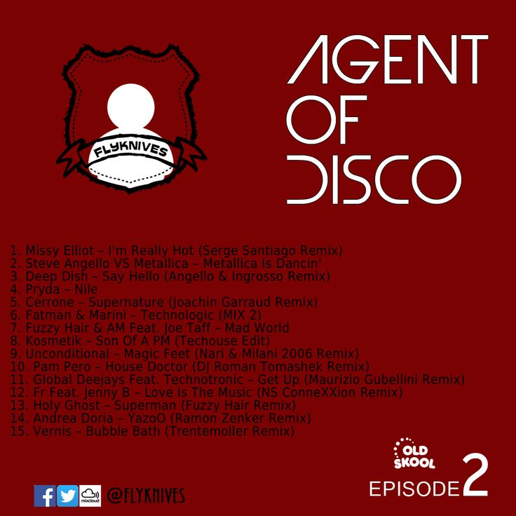Agent Of Disco 2, one DJ between the house story. #MIXCLOUD link:  http://www.mixcloud.com/FlyKnives/agent-of-disco-2/