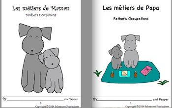 "In ""Occupations by Pepper"" the two booklets, sheets and PowerPoints can be used at any time of the year to learn in French with Pepper about occupations and the roles parents take on.  They also make an entertaining introduction to thinking about mothers, fathers and other special people on Mother's Day and Father's Day."