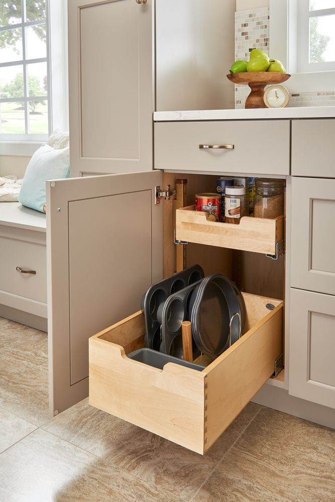 Our 4PIL Pilaster System is stackable, versatile and customizable. Whether for cabinet or pantry applications, keep your food or cookware organized and within reach.