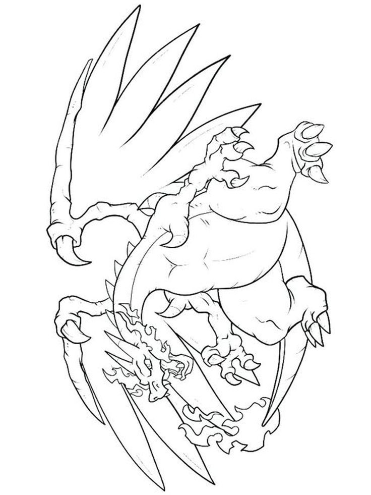 charizard gx coloring pages. Charizard is one of 5 Pokemon