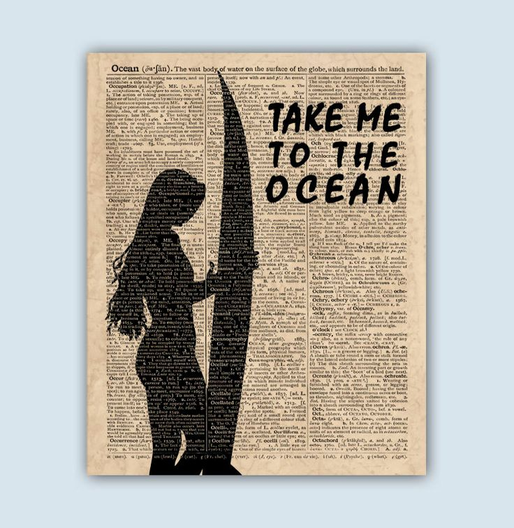 Surf Print, Surfer Girl, Surf Gifts, Surf Art, Surf Wall Decor, Surfing Art, Surfer Decor, Surf Wall Art, Take Me To The Ocean by DicosLand on Etsy