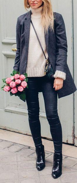 Skinnies + blazer.