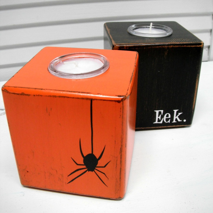 Halloween Decorations - Rustic Halloween Candles