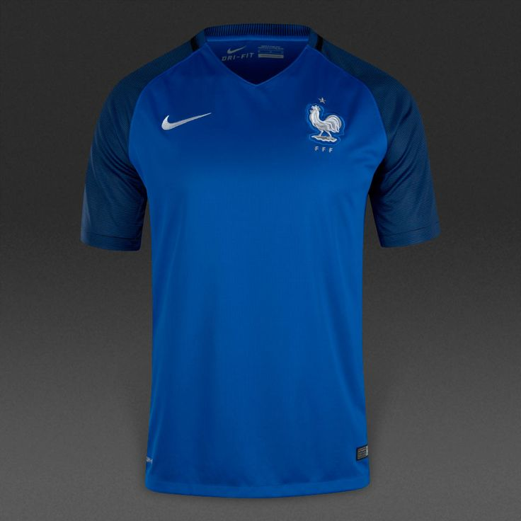 Nike France 16/17 Home SS Stadium Jersey - Hyper Cobalt/White