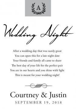 Monogram Wedding Milestone Wine Label