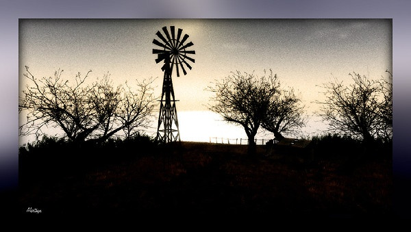 Windmill on the cliff by MerthynVintner @ Koinup