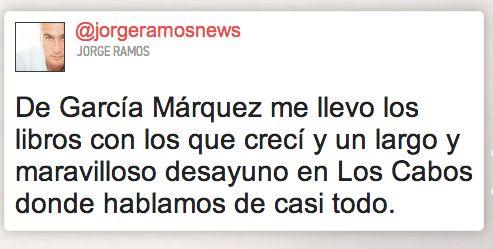 on Gabriel Garcia Marquez's death