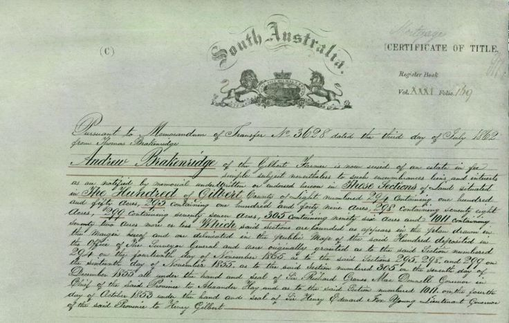 South Australian Land Records - Online AND Free! | Genealogy & History News