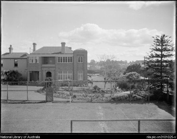 Foster, A. G. (Arthur G.)  Meriden, Church of England school for girls, Redmyre Road, Strathfield, N.S.W. [picture]  [between 1920 and 1945] 1 negative : glass, b ; 16.5 x 21.5 cm.  Part of Collection of photographs of Sydney [picture] [1920-ca. 1945]  From National Library of Australia collection  http://nla.gov.au/nla.pic-vn3101025  nla.pic-vn3101025