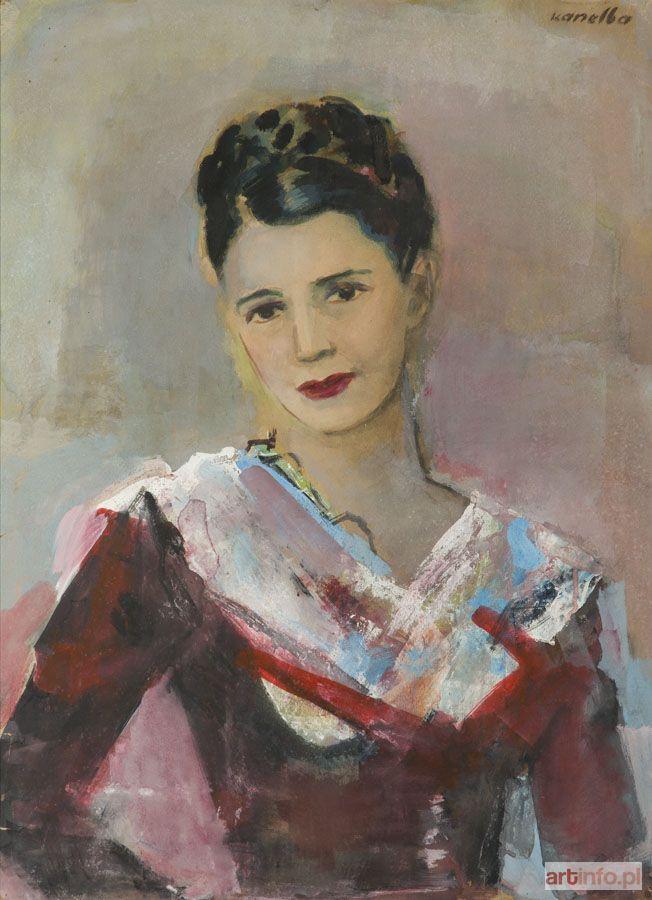 (Kanelbaum) Rajmund KANELBA ● Portret żony Zygmunta Menkesa ●