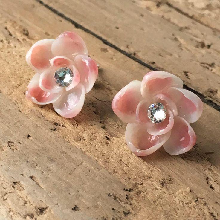 Seashell Earrings - Beach Bridal Earrings - Coastal Earrings - Mermaid Earrings- Bridesmaid Earrings - Beach Jewelry - Mermaid Jewelry by CoastalCornucopia on Etsy https://www.etsy.com/listing/517475125/seashell-earrings-beach-bridal-earrings