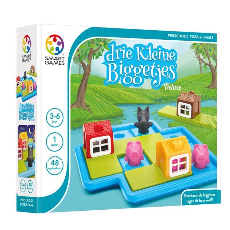 Mamaatje ik wil dit! Mega puzzelplezier van SmartGames! Een betoverend denkspelletje met 3 biggetjes en een wolf.