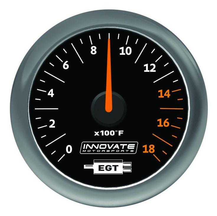 MTX Analog, Exhaust Gas Temperature (EGT) Gauge Kit, Black Dial