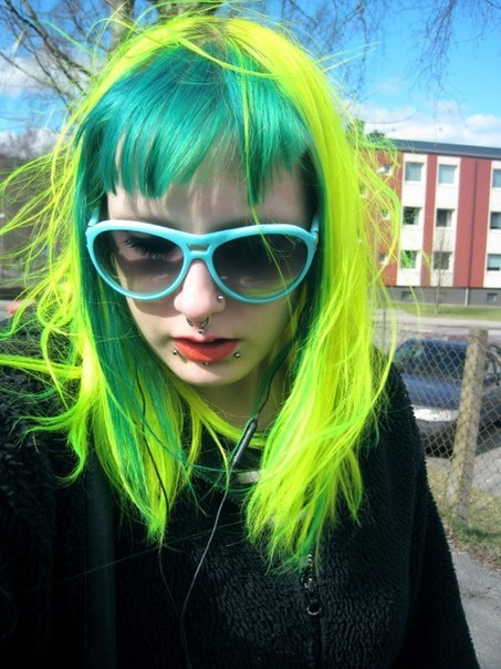 145 best Crazy Green & Yellow Hair images on Pinterest ...