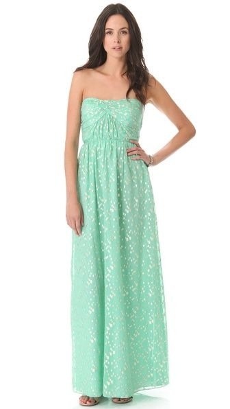 Shoshanna Jennifer Strapless Maxi Dress $495 (i know wrong color but so pretty!)