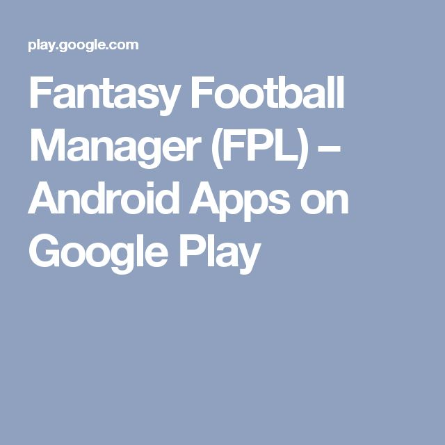 Fantasy Football Manager (FPL) – Android Apps on Google Play