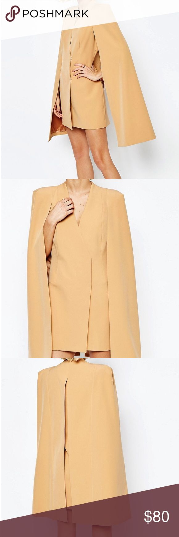 Camel Blazer Dress Perfect for a smart casual night out! (never worn) Lavish Alice Dresses Mini