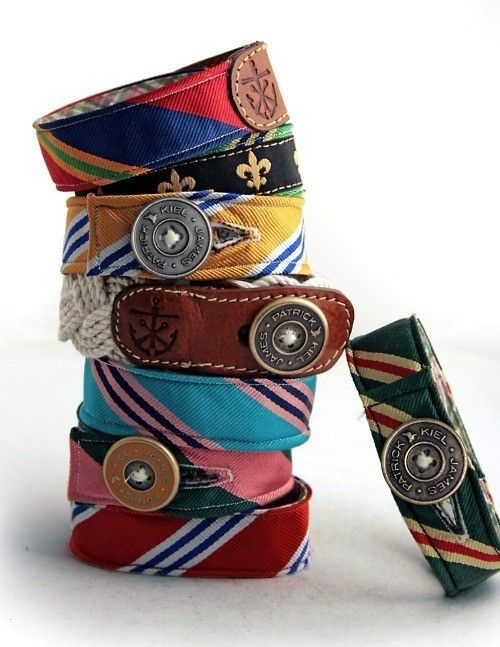 for the teen - make a funky upcycled cuff bracelet from an old neck tie (NOTE: this is the only legit link i could find for this project, since the actual picture in the pin is not made from ties and is a designer product, so this blogger decided to take it on AND also links to the original creator)