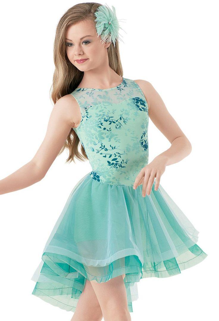 Weissman™   Floral Burnout High-Low Dress