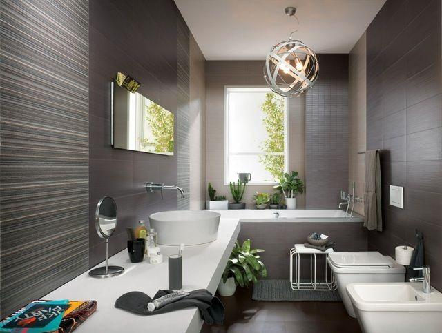 Les 25 meilleures idées de la catégorie Salle de bains gris foncé ...